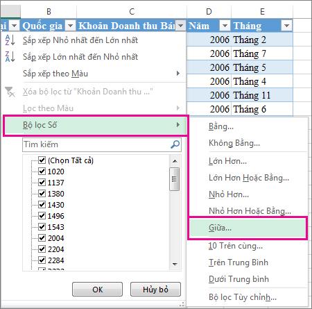 Bạn biết gì về bộ lọc dữ liệu trong Excel?