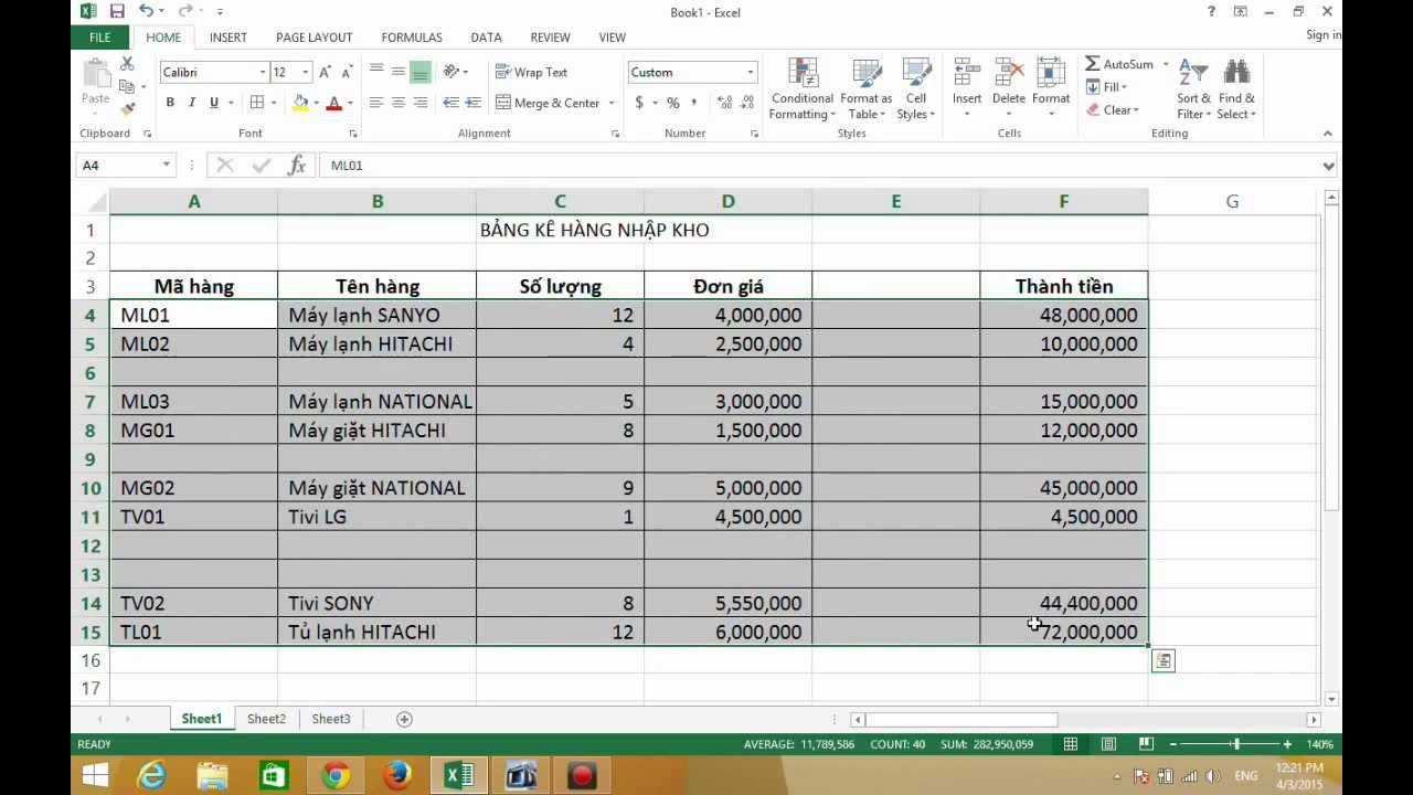 Bạn có thể xóa dòng trong Excel theo những cách nào?